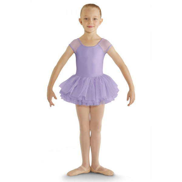 Bloch cap sleeve tutu leotard, detský dres s tutu sukničkou