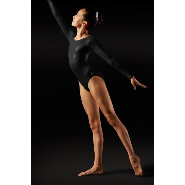 Bloch Foil, gymnastický dres s dlhým rukávom pre deti