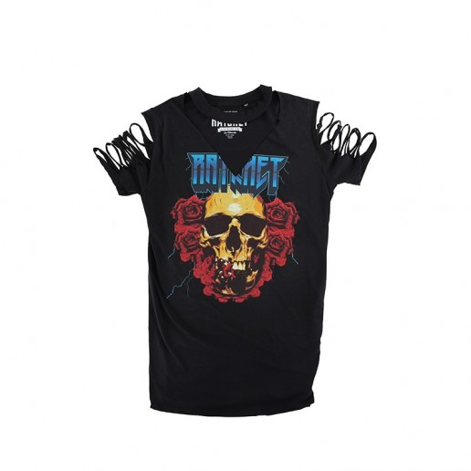Ratchet Longline Black Roses Choker T-Shirt SS17, tričko