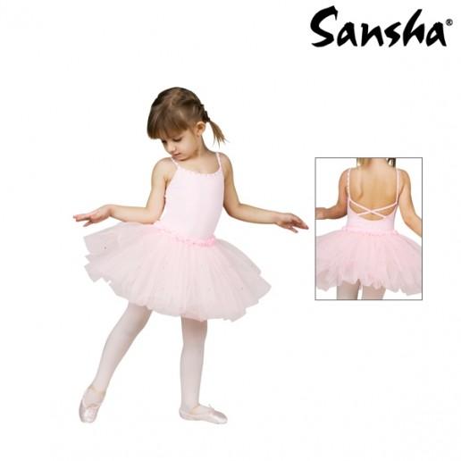 Sansha Fawn Y1705C, destký baletný dres so sukničkou
