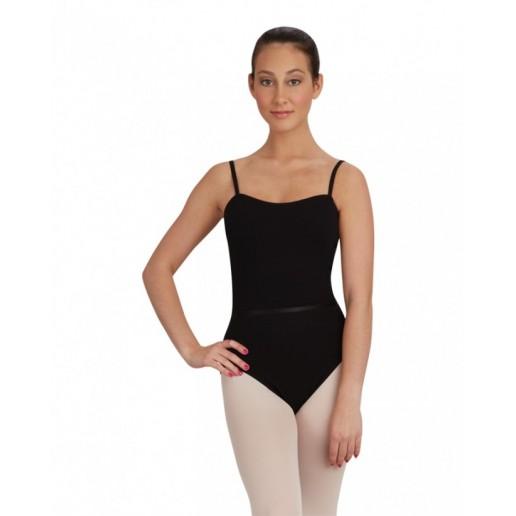 Capezio CAD100B baletný dres na ramienka s opaskom