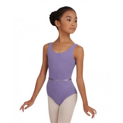 Capezio detský baletný dres s opaskom na hrubé ramienka