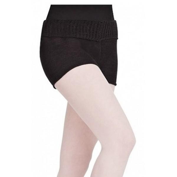 Capezio Short w/Fold Down Waist CK1003W, pletené krátke nohavice