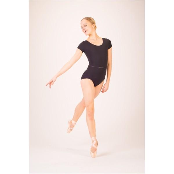 Capezio TC0054W baletný dres s krátkym rukávom a s opaskom