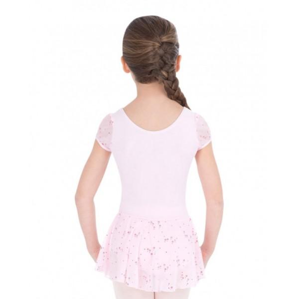 Capezio flitrovaný baletný dres so sukňou