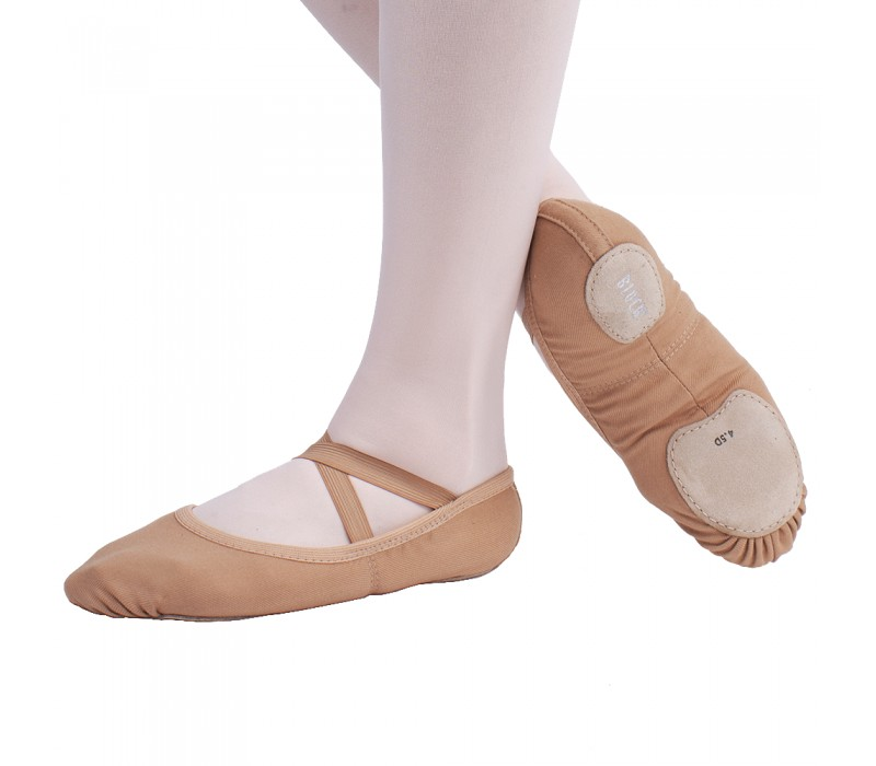 Bloch Performa, baletné cvičky - Telová - sand