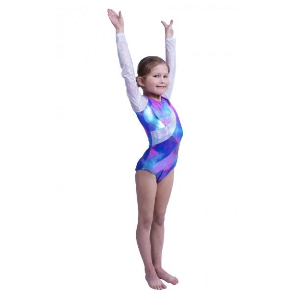 Capezio gymnastický dres pre dievčatá s dlhým rukávom