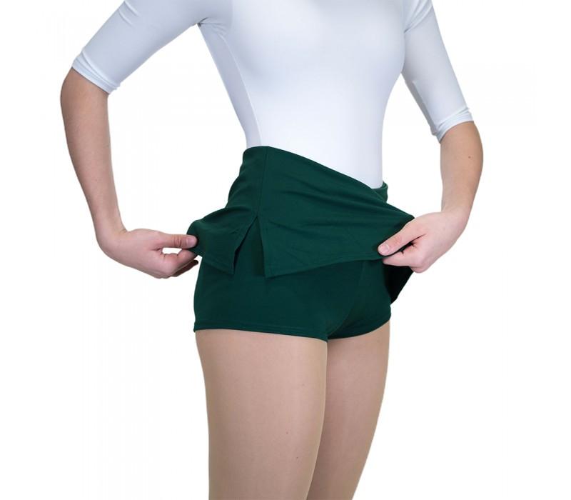 Capezio, sukňa s krátkymi nohavicami - Zelená - dark green