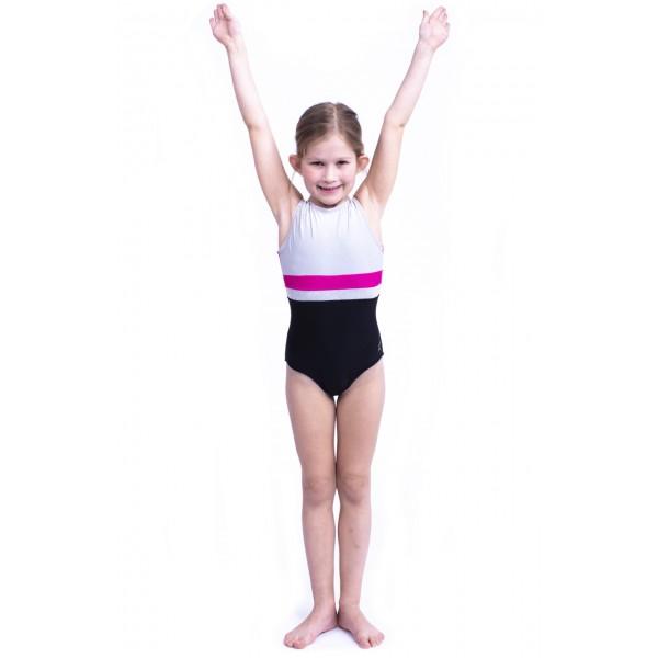Capezio Stick the Landing boat neck, detský gymnastický dres bez rukávov