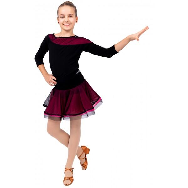 Tréningová sukňa s lemom pre dievčatá