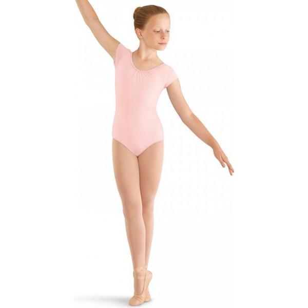Mirella M414C, 3 Bow back cap sleeve leotard, detský baletný dres