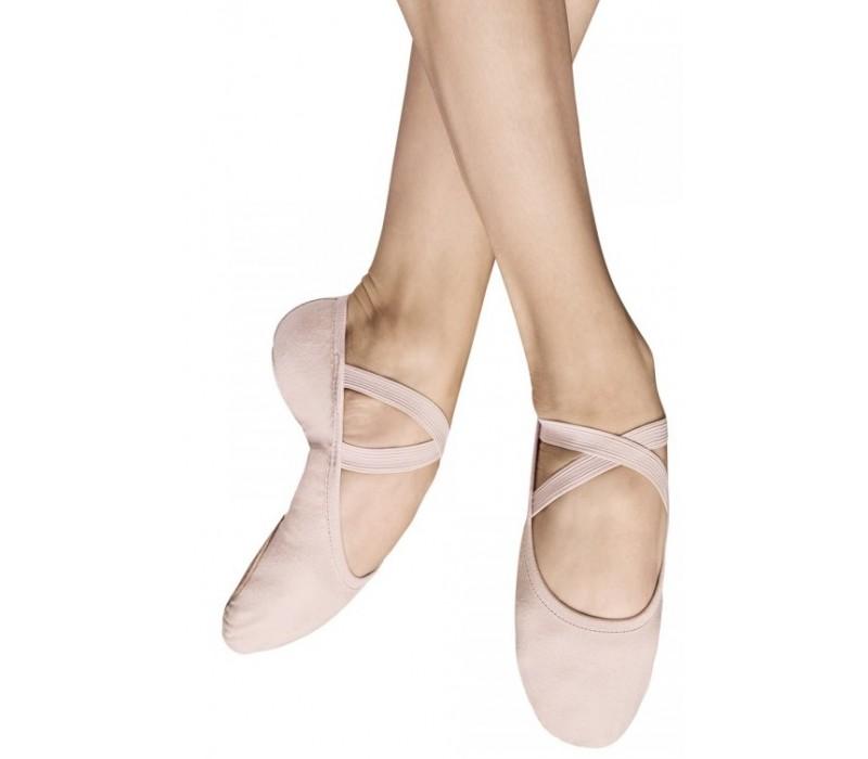 Bloch Performa, baletné cvičky - Ružová divadelná Bloch