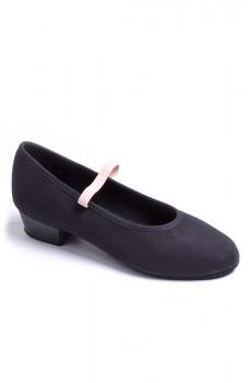 "Capezio Academy character w /1"" heel, plátené charakterové topánky pre deti"