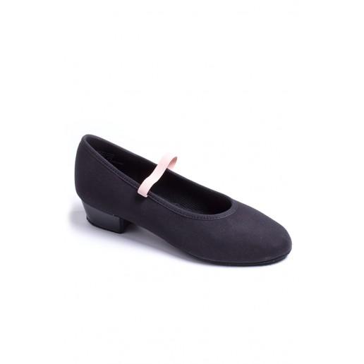 "Capezio Academy character 1"" heel, plátené charakterové topánky pre deti"