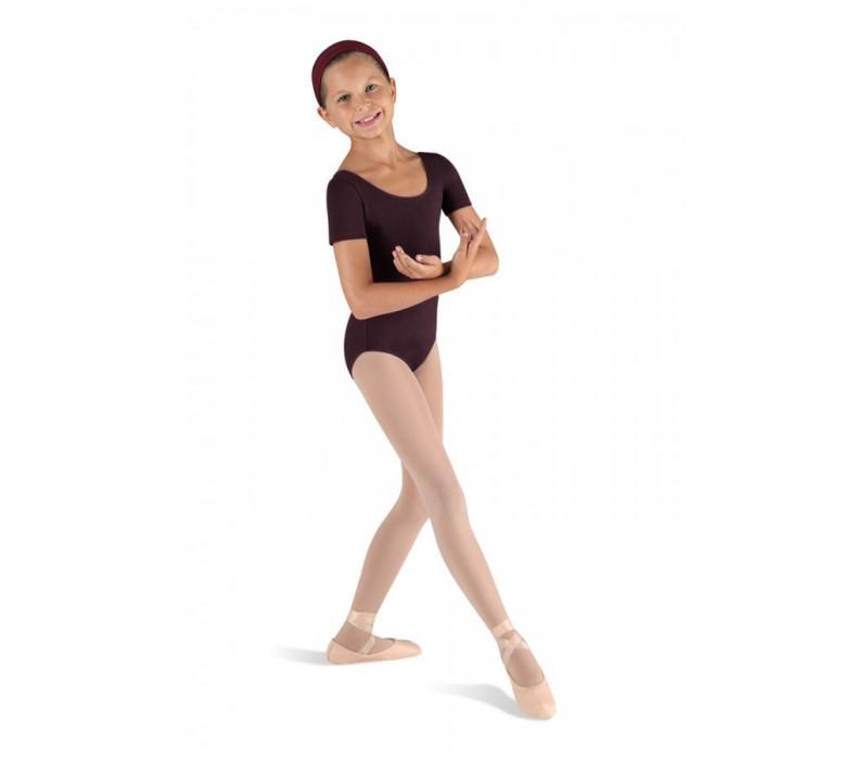 Bloch Ballet, dres s krátkym rukávom - Fialová baklažánová Bloch