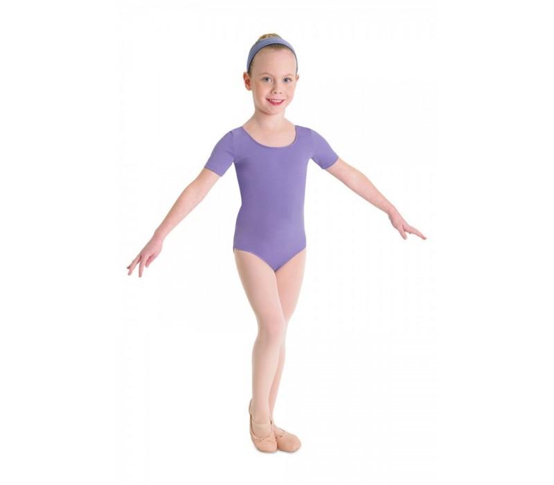 Bloch Ballet, dres s krátkym rukávom - Levanduľová Bloch