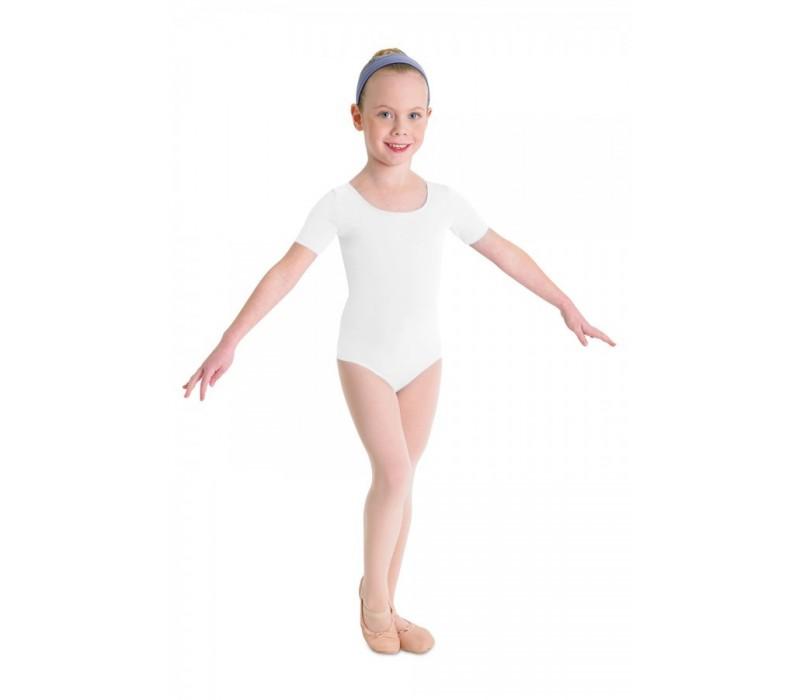 Bloch Ballet, dres s krátkym rukávom - Biela