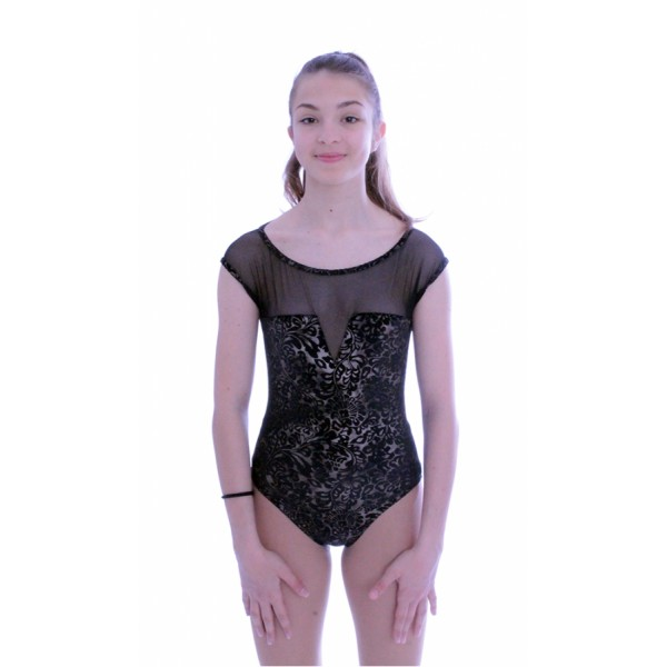 Capezio Damask Mesh Yoke Notched leotard, dámsky dres