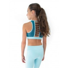 Capezio Colourblock High Neck Bra Top, športová podprsenka
