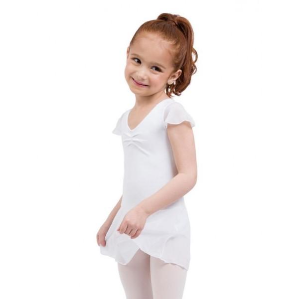 Capezio flutter sleeve dress, dres so sukničkou