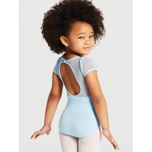 Capezio puff sleeve keyhole back leotards, detský baletný dres
