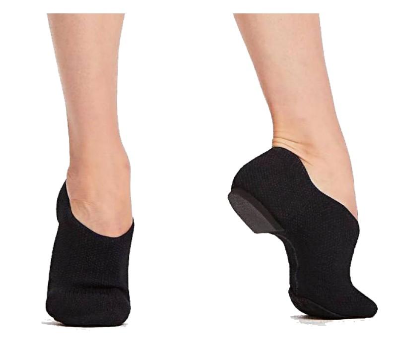 Capezio Pure Knit Jazz Shoe, tanečná obuv - Čierna