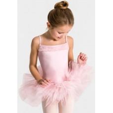 Capezio Ruffle Yoke Tutu Dress, detský dres s tutu sukničkou
