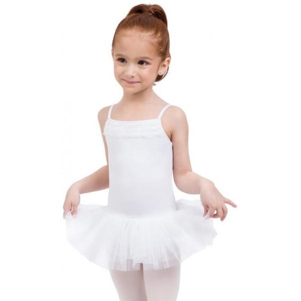 Capezio Ruffle Yoke, detský dres s tutu sukničkou