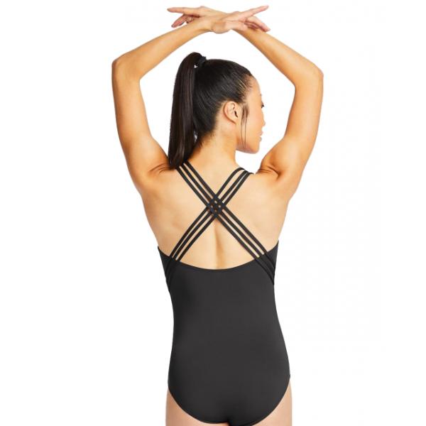 Capezio Tech mesh insert camisole leotard, baletný dres