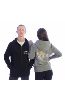DanceMaster training hoodie, pánska mikina so zipsom