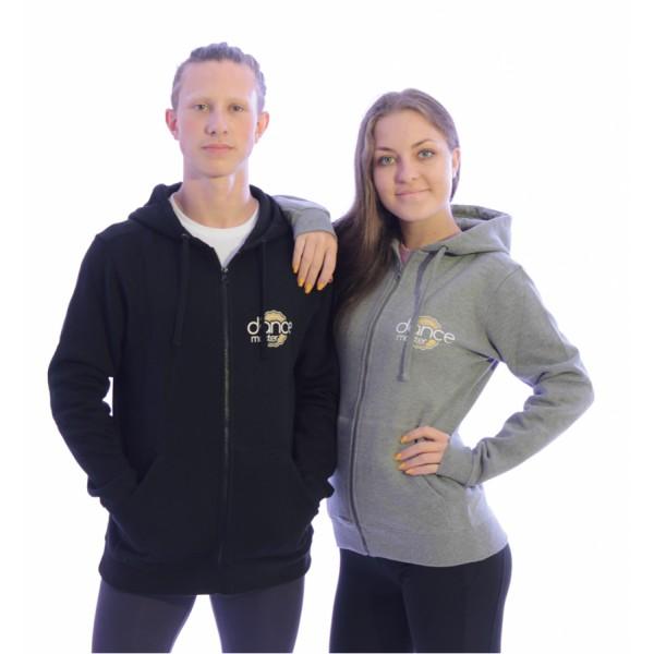 DanceMaster training hoodie, mikina so zipsom
