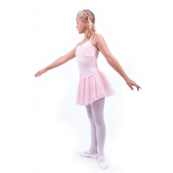 Capezio Swiss Dot Cinch Waistband Layer Skirt, suknička pre dievčatá
