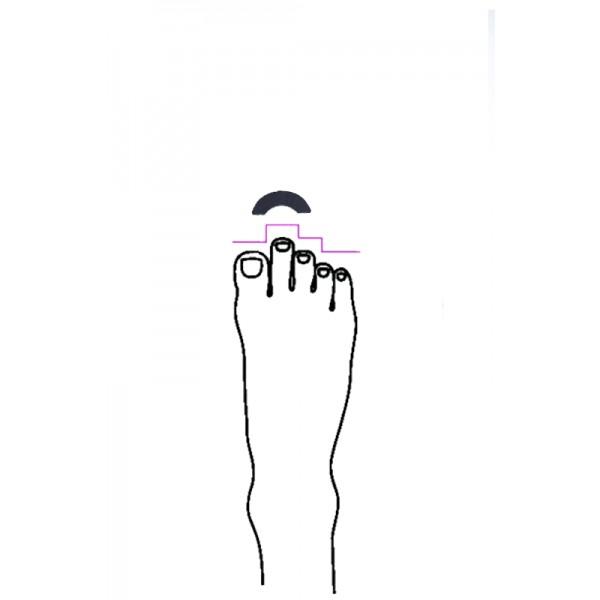 Gelový oblúk do baletných špičiek pre kratší veľký palec